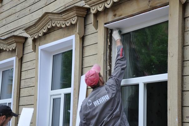Новые окна из профиля rehau в доме с историей